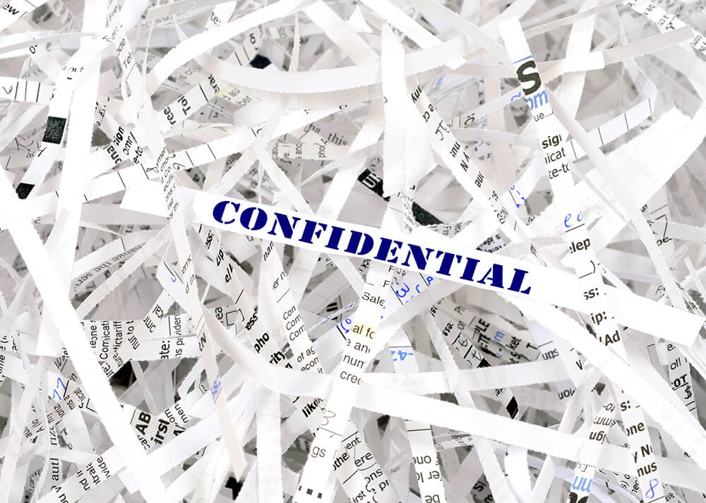 Shredded Confidential Papers